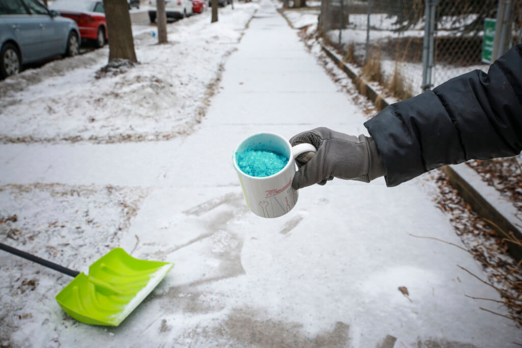 One cup of road salt goes a long way.